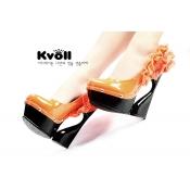 Kvoll encaje novedad al por mayor caliente Bombas de Orange