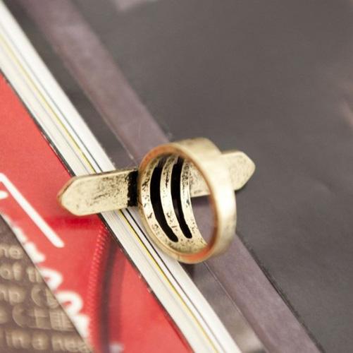 Estilos europeus bronzeado-color anel de metal