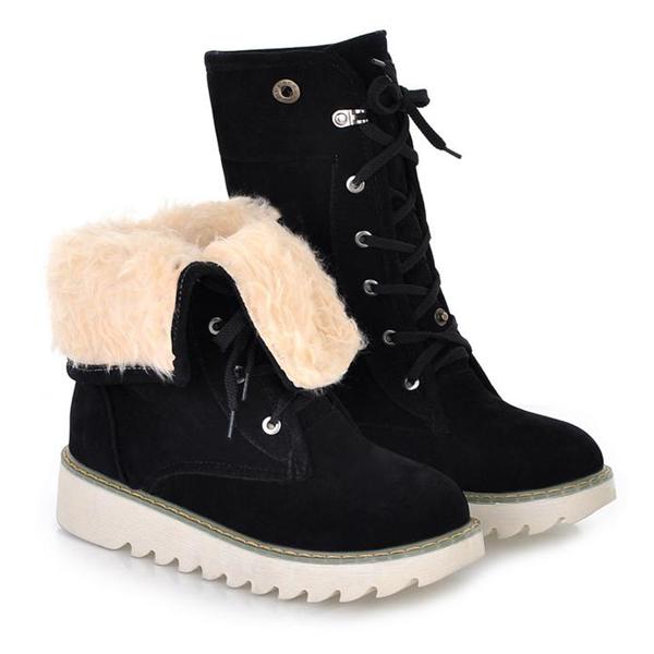winter toe wedge low heel lace up black suede