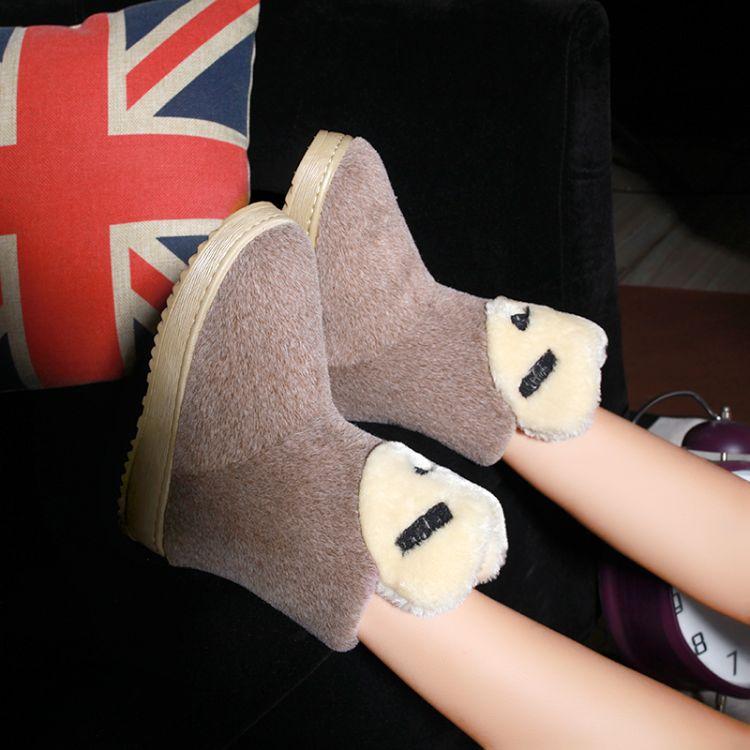 Toe Inverno Rodada Stiletto salto médio mocassim tornozelo Brown Suede Boots neve