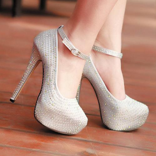 High Heels With Ankle Strap