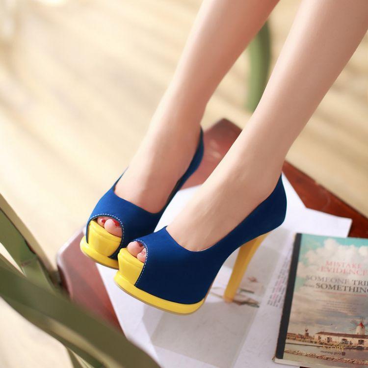 Chaussure A Talon Fashion Bleu