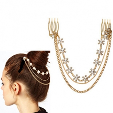Fashion Gold Metal Hairpin