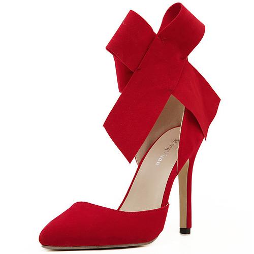 Bow Ankle Strap Heels | Tsaa Heel
