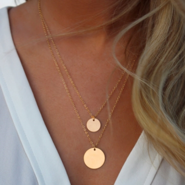 Cheap Fashion Golden Double-layers Metal Necklace
