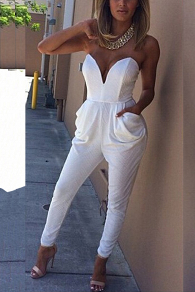 Cheap Fashion Jumpsuit One Piece White Jumpsuits