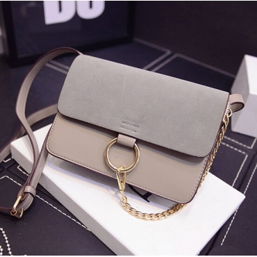 Fashion Women Hasp Desgin Grey  PU rossbody