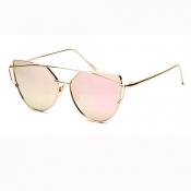 Retro Hollow-out Sakura Pink Acrylic Sunglasses