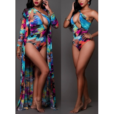 Sexy Printed Hollow-out Qmilch Swimwear(Two-piece)