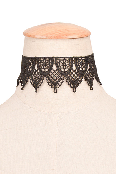 Fashion Black Bud Silk Choker