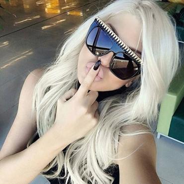 Euramerican Big Frame Design Black PC Sunglasses