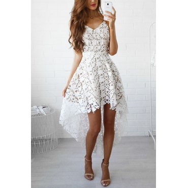 Lace Bohemian V Neck Spaghetti Strap Sleeveless Dresses