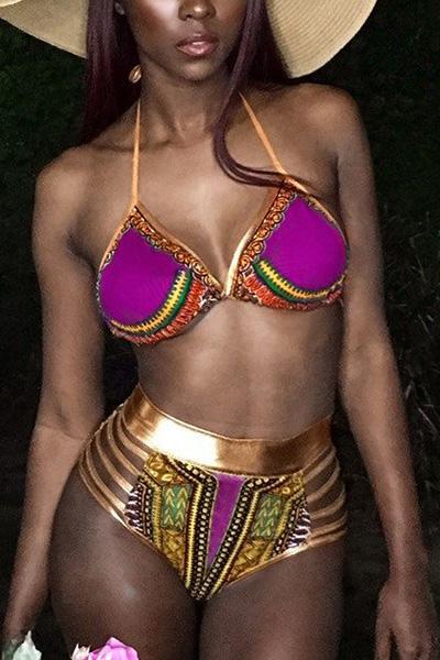 Bikinis de impresión de poliéster