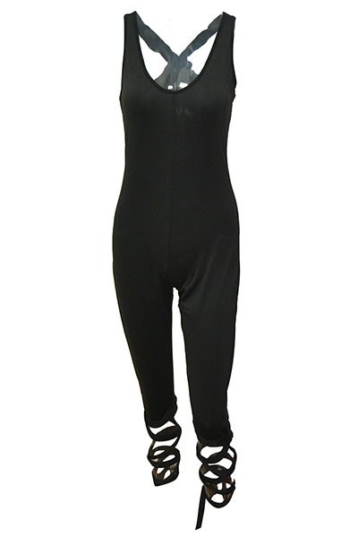 Qmilch Solid Skinny Jumpsuits