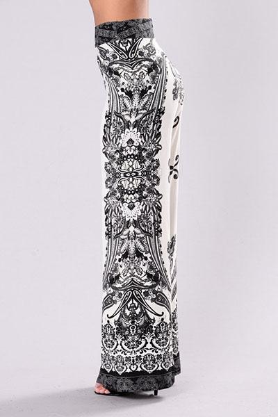 Sexy alta cintura impreso Backless blanco Qmilch pantalones de dos piezas conjunto