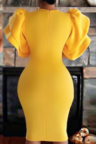 Healthy Fabric Fashion O neck Short Sleeve Sheath Knee ...