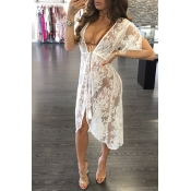 Lace Solid Cover-Ups