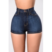 Pantalones cortos de algodón azul marino