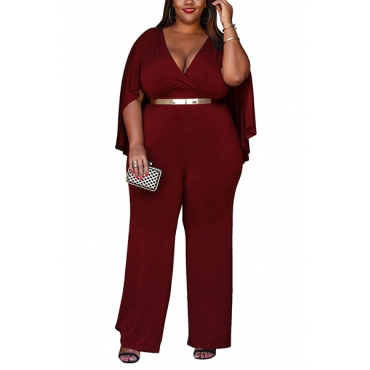 Qmilch Solid Straight Jumpsuits