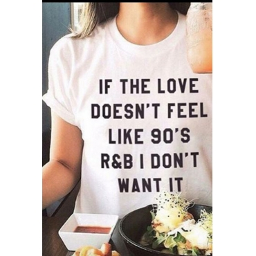 Pullovers Cotton O Neck Short Sleeve Letter T-shirt