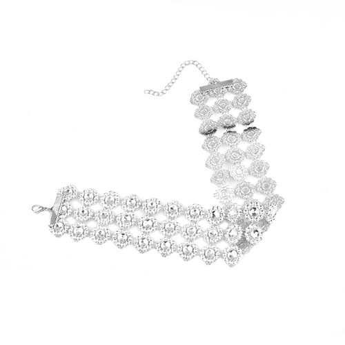 Fashion Hollow-out White Plastic Choker