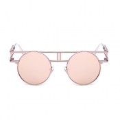 Stylish Hollow-out Pink Metal Sunglasses