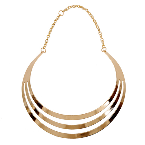 Fashion Multilayer Hollow-out Gold Metal Necklace