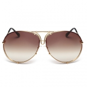 Stylish Gold Metal Sunglasses